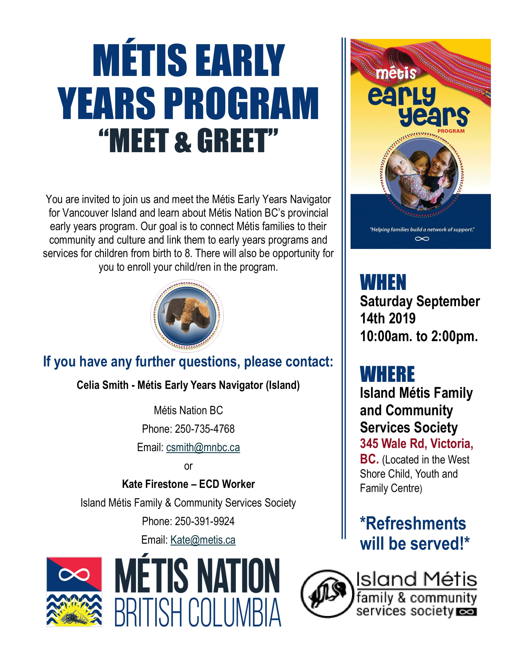 Metis Early Years Celebration Sept 14